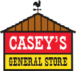 Logo for Casey's General Store, a long standing client of Red Noise 6 commercial production.
